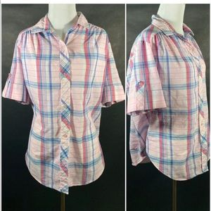 Pink and Blue Plaid Shirt by Allana, 18W